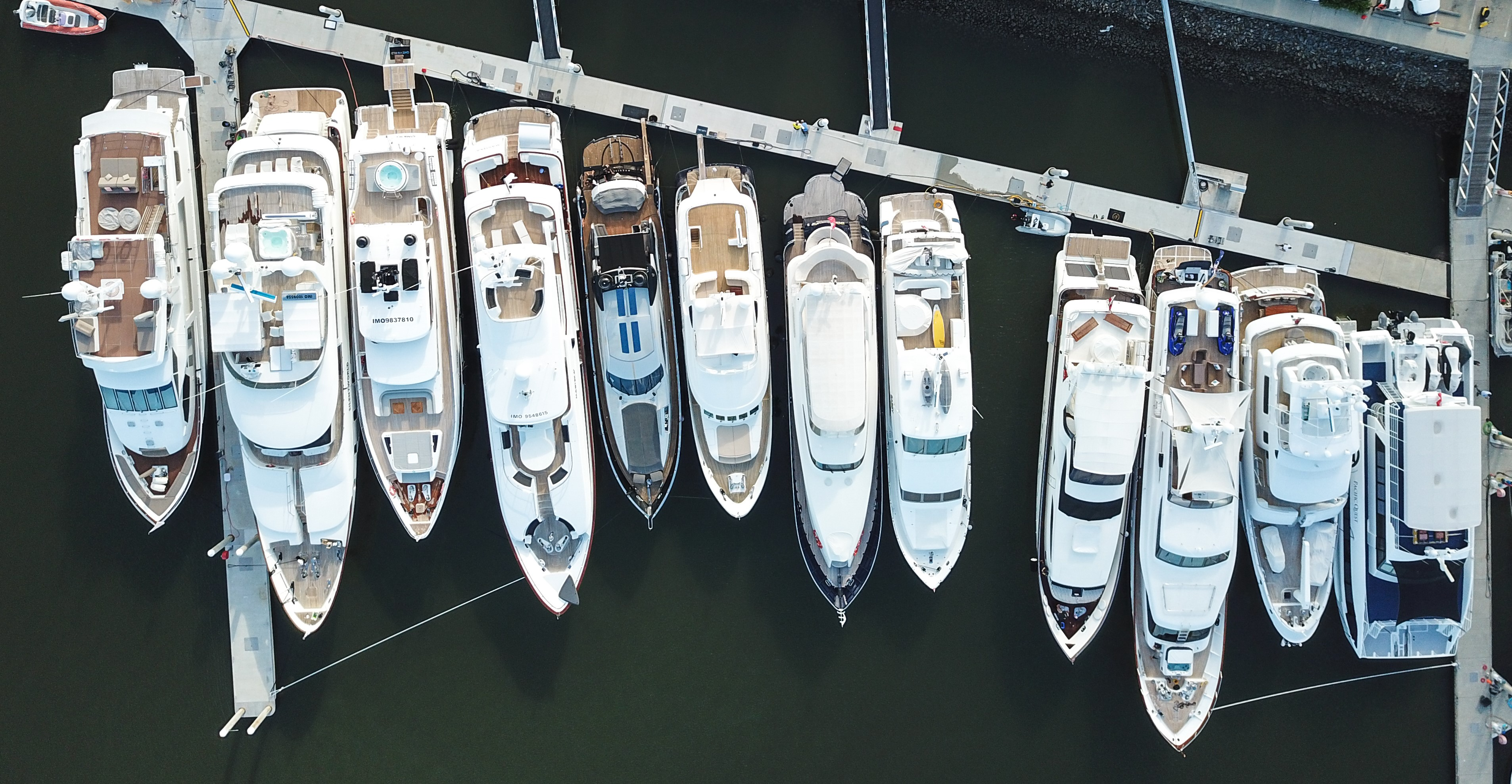 Line up of Yachts at the 2018 Australian Superyacht Rendezvsou