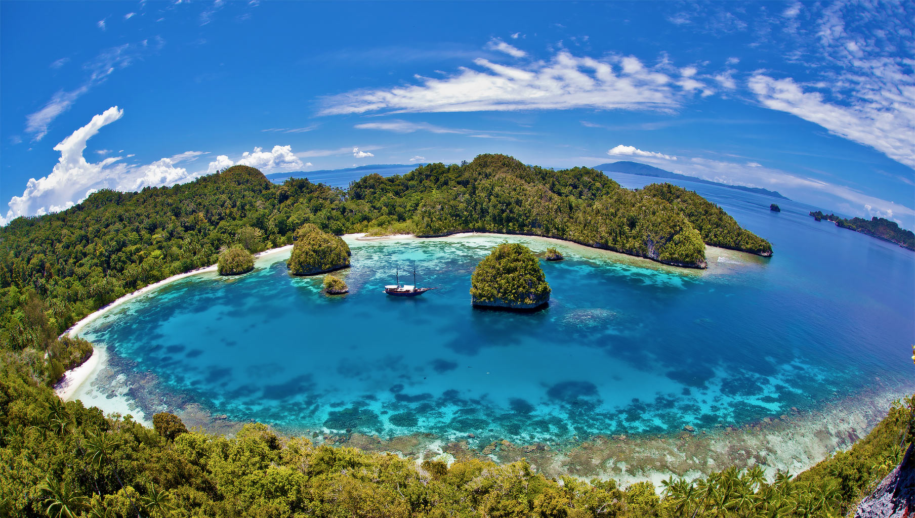Cruising Indonesia on a superyacht