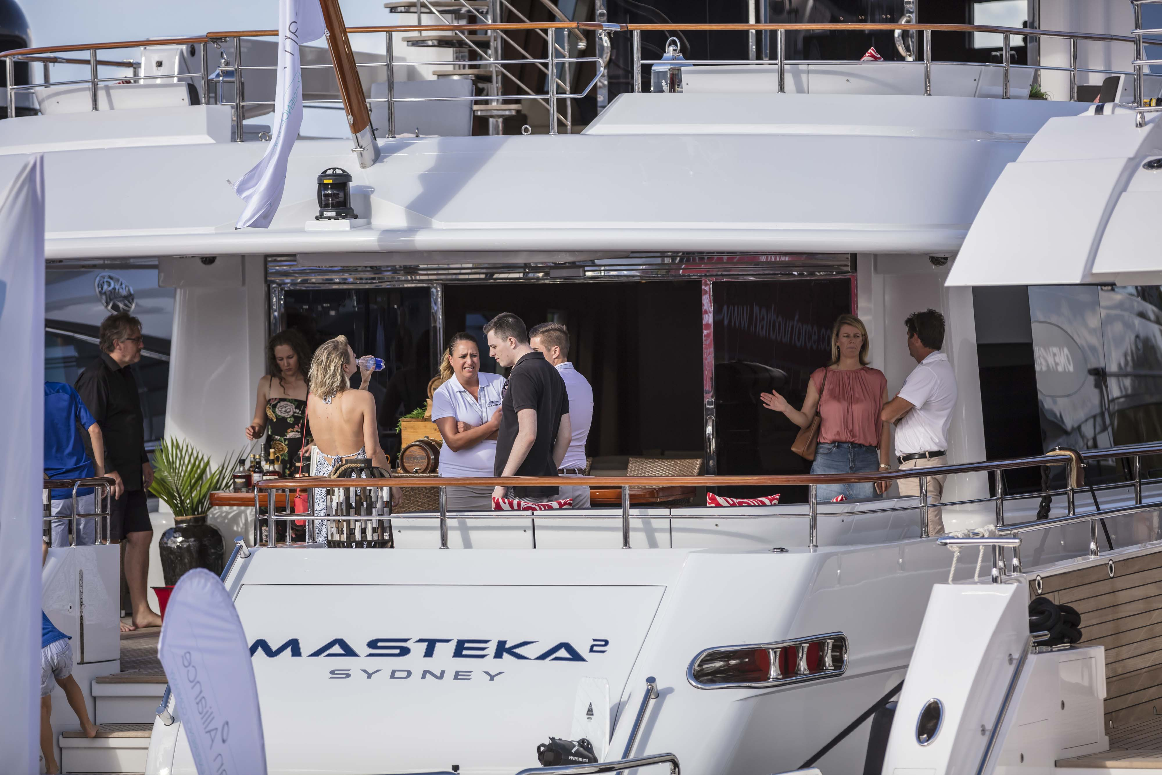 VIP yacht hop at the Australian Superyacht Rendezvous