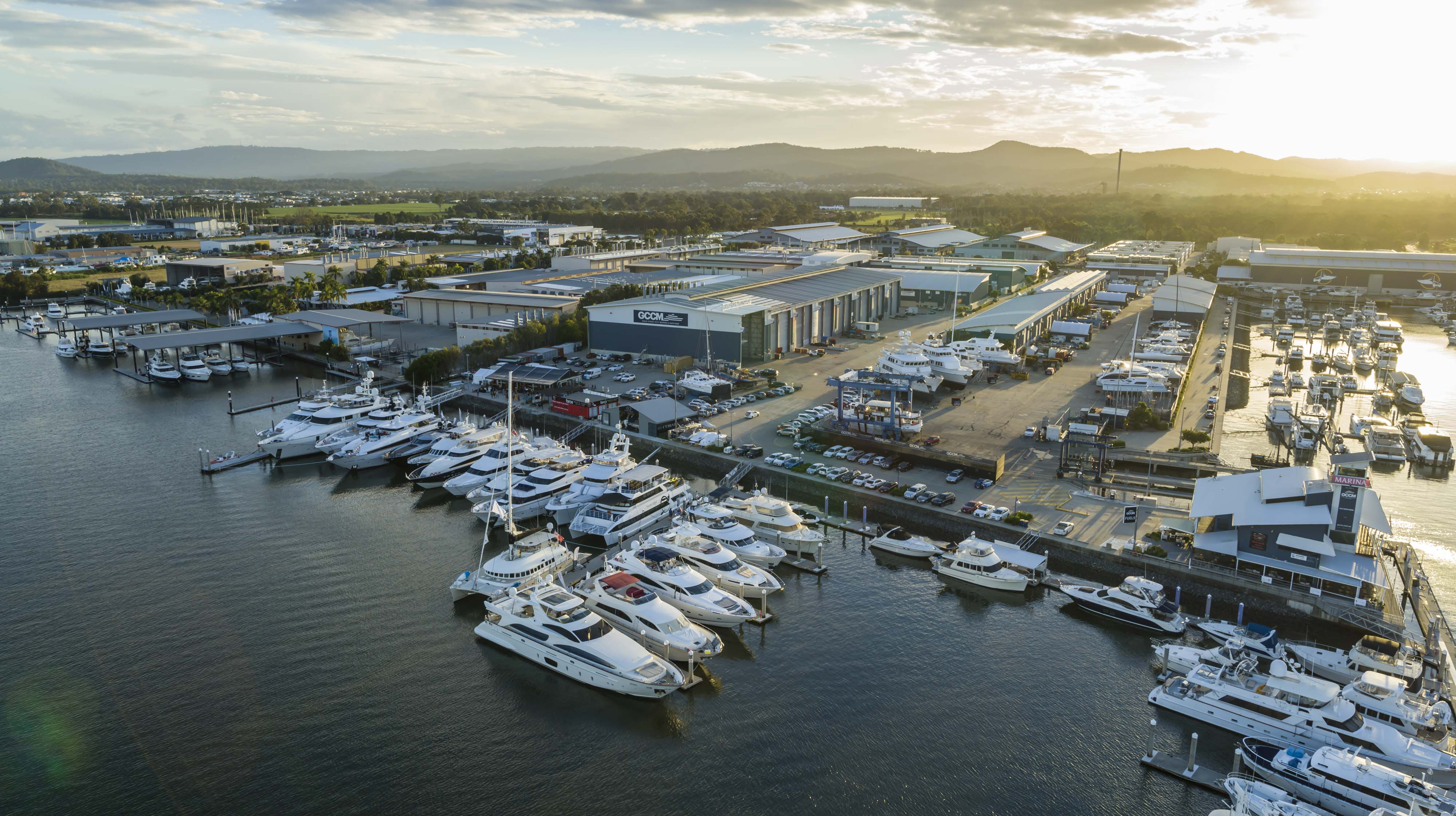 Aerial of the Australian Superyacht Rendezvous